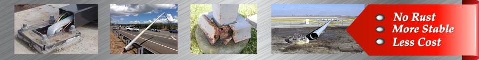 rusty poles divider - 4″ Camera Poles
