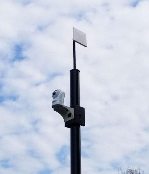 top mount ptz platform with smwrap 1 510x594 - SteadyMax 12′ Solar & Wireless Pole