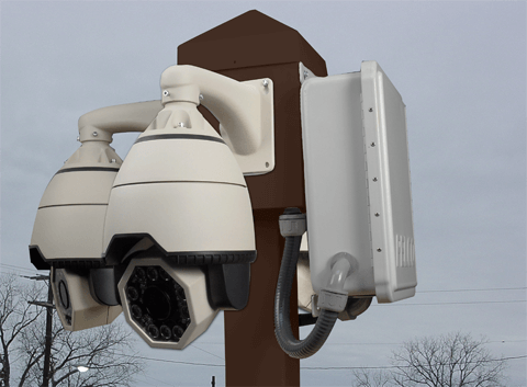 StrongPoles with ptz cameras lg - 8 X 10 Mounting Platform (Birdhouse)