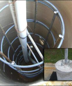 elec light pole foundations 247x296 - StrongForms Concrete Forms