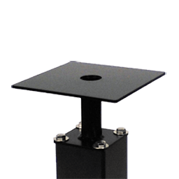 square pedestal - 4″ Square Pole Accessories 12′ and Below