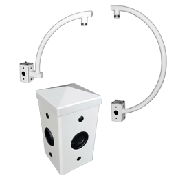 pedestal mount icon - 4″ Square Pole Accessories 12′ and Below