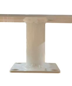 "SP TMSQHD White 247x296 - 8"" Square Pedestal (for Pole Top)"