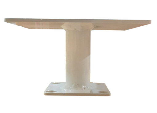 """SP TMSQHD White 510x369 - 8"""" Square Pedestal (for Pole Top)"""