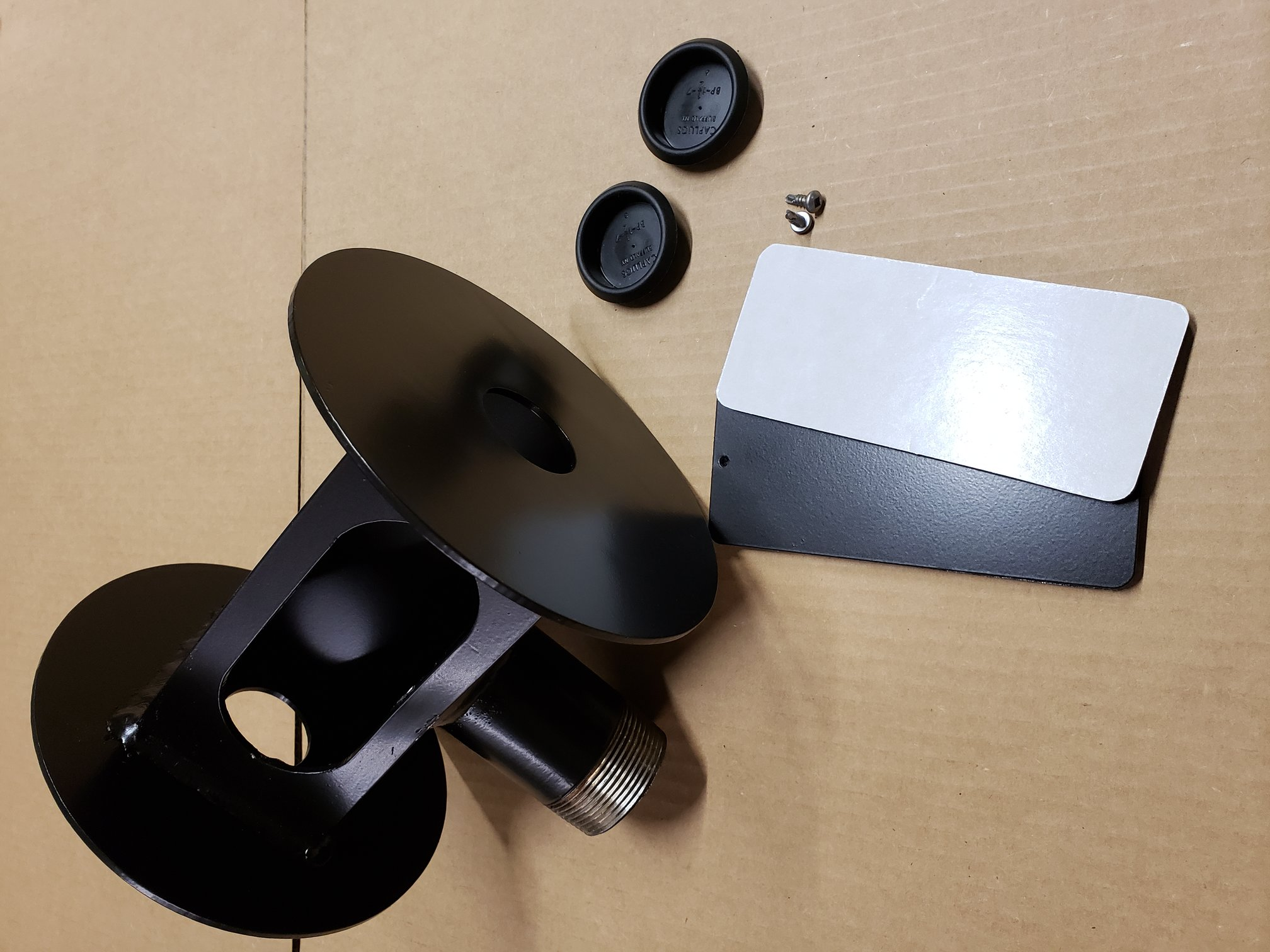 dual dome and bullet adapter w kit resize - Built strong to provide a sturdy, steady security camera mounting platform