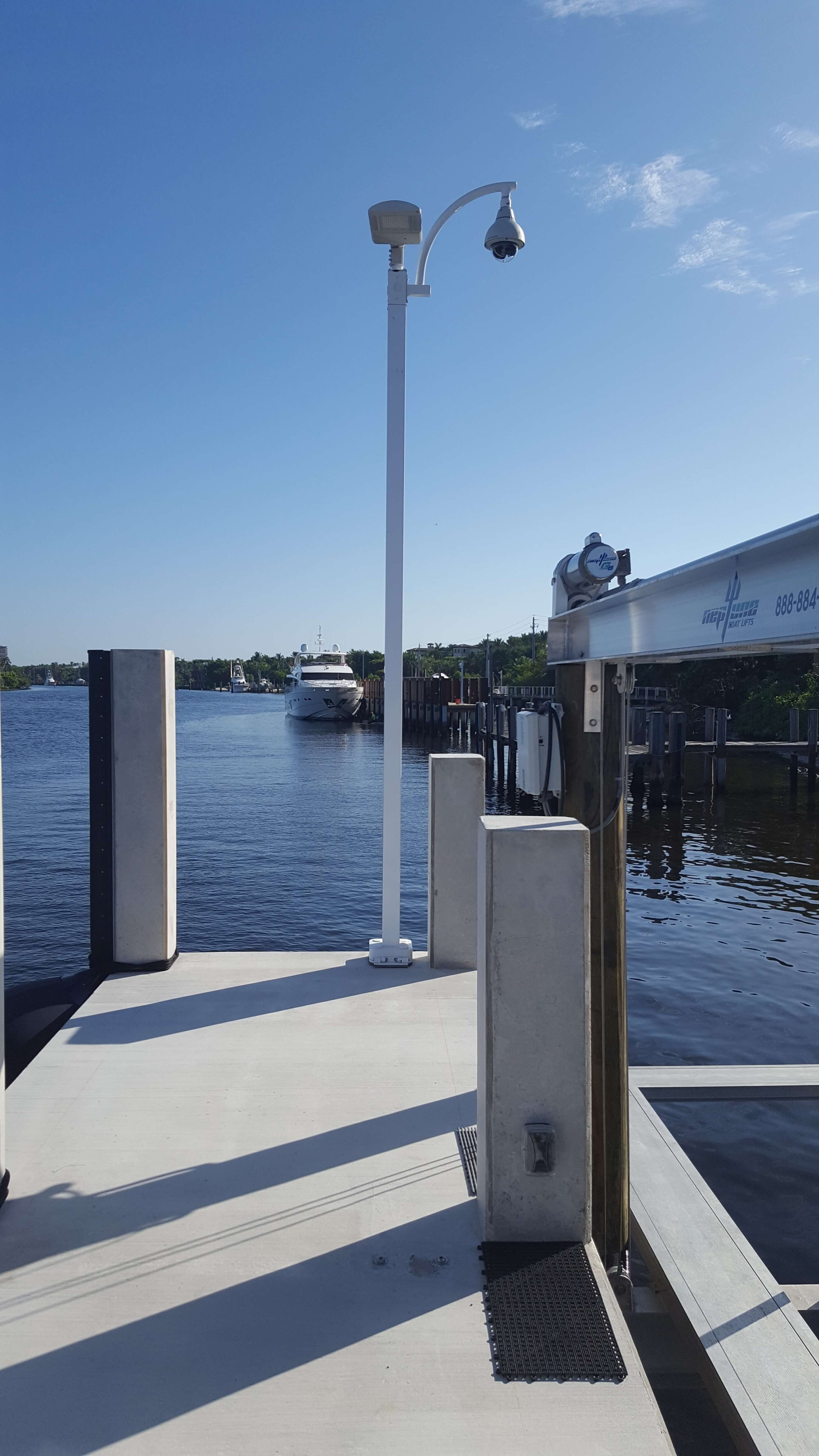 customer pic at dock area 1 2813x5000 - We here at StrongPoles.com like it when customers share their pictures with us.