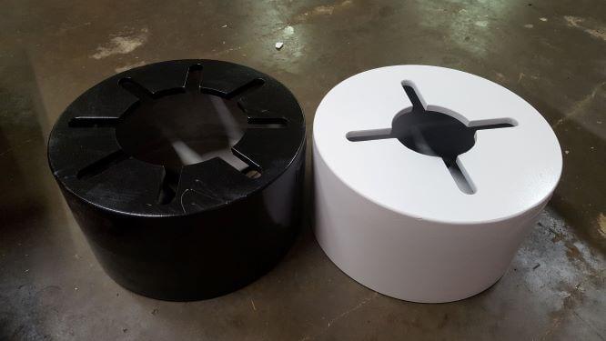 light pole adapter resize - Light Pole Bolt Circle Adapter