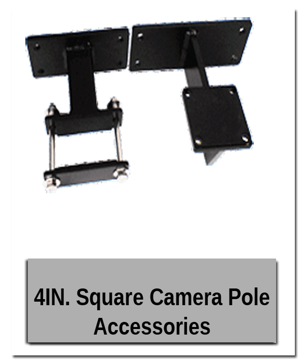 4 inch Square Camera Pole Accessories w shadow gry - Outdoor Showroom