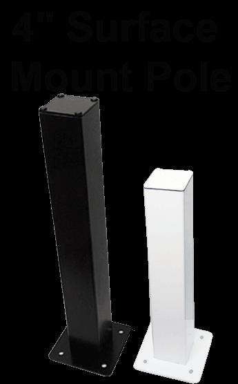4 inch square camera poles - Home