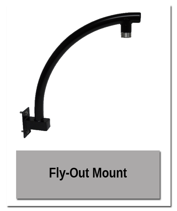 Flyout mount - Tenon & Accessory Mounting Pedestal