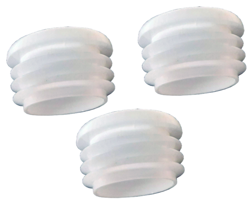 "MP68 Caps White 2 510x423 - MP68 1-1/8"" Caps - Main Holes- (3Pack)"