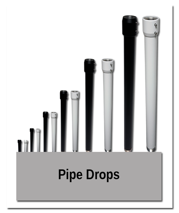 Pipe Drops - Indoor Mounting Showroom
