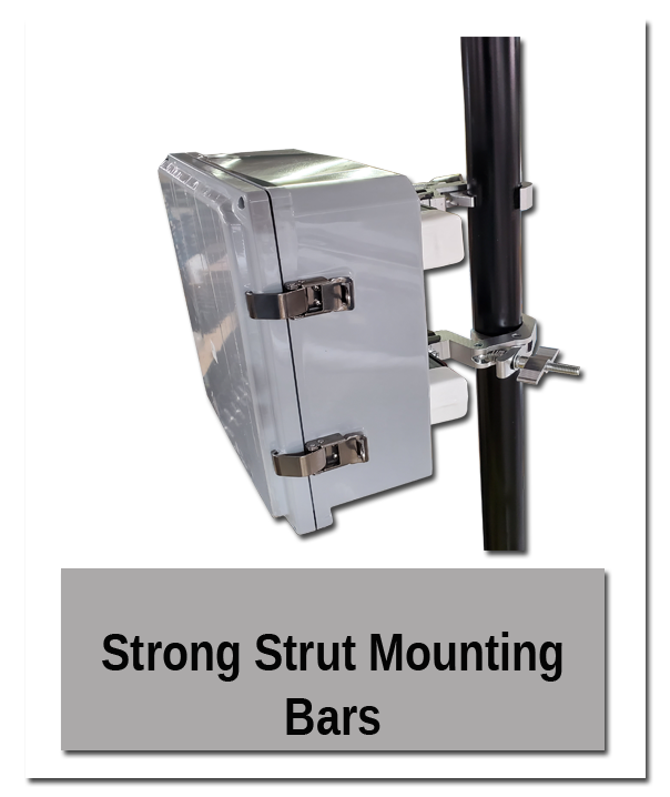 Strong Strut Mounting Bars in use - Indoor Mounting Showroom