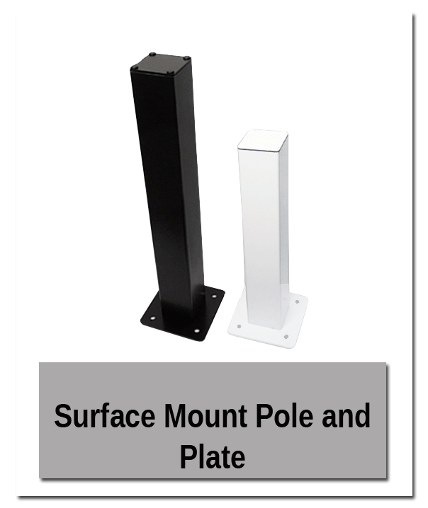 Surface mount pole - Building Mount Showroom