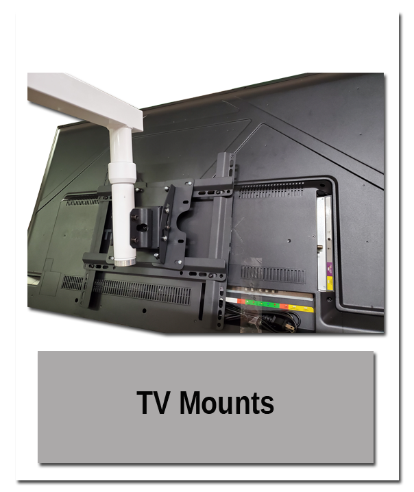 TV Mounts in use 1 - Indoor Mounting Showroom