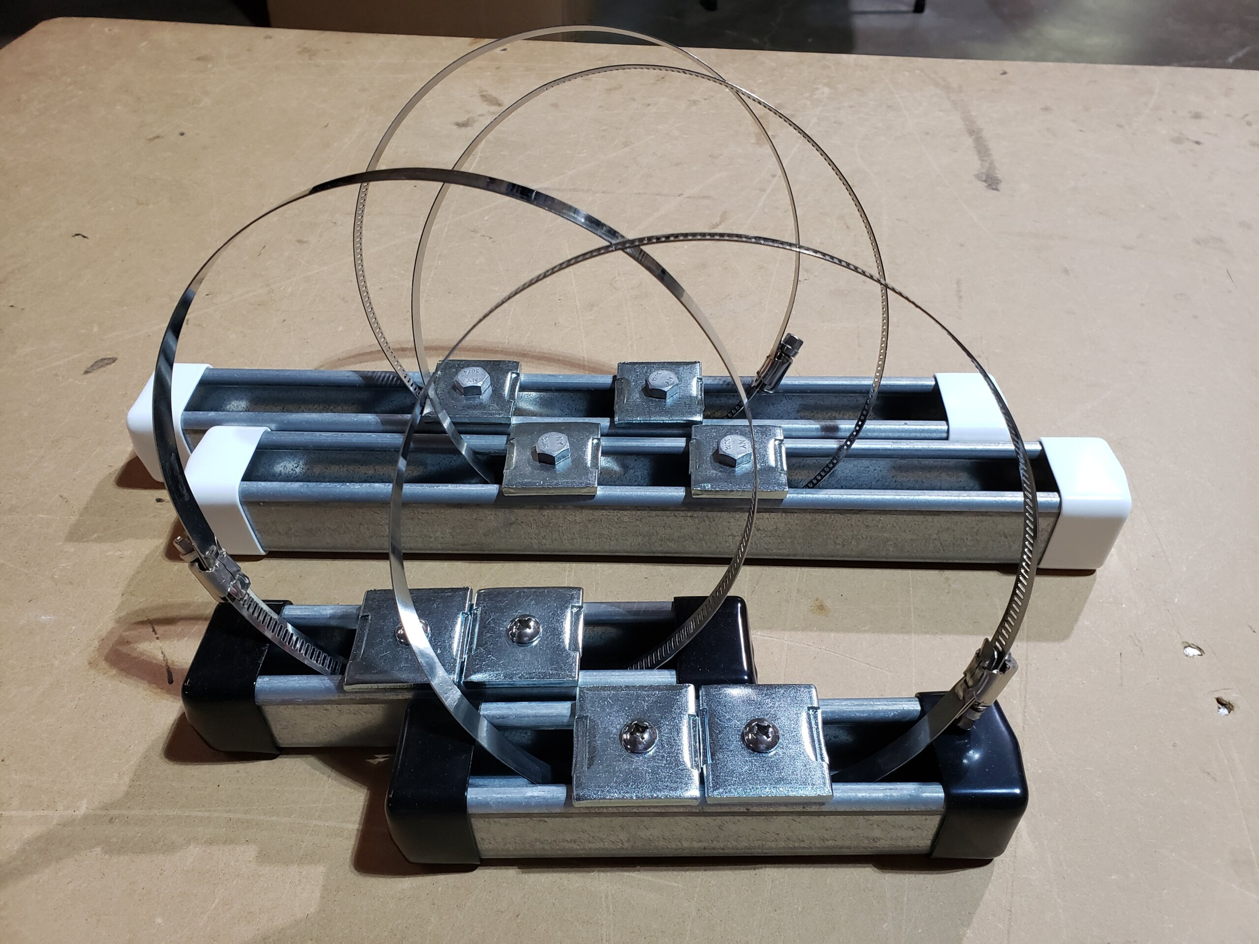 ims mounting bar w worm gear clamp scaled - Strong Strut Mounting Bars