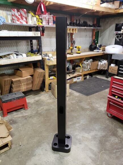 5ft 4in square pole rotated - Strong Poles build the most robust security poles in the world!