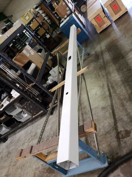 direct burial pole rotated - Direct Buriable 5″ Square Camera Poles