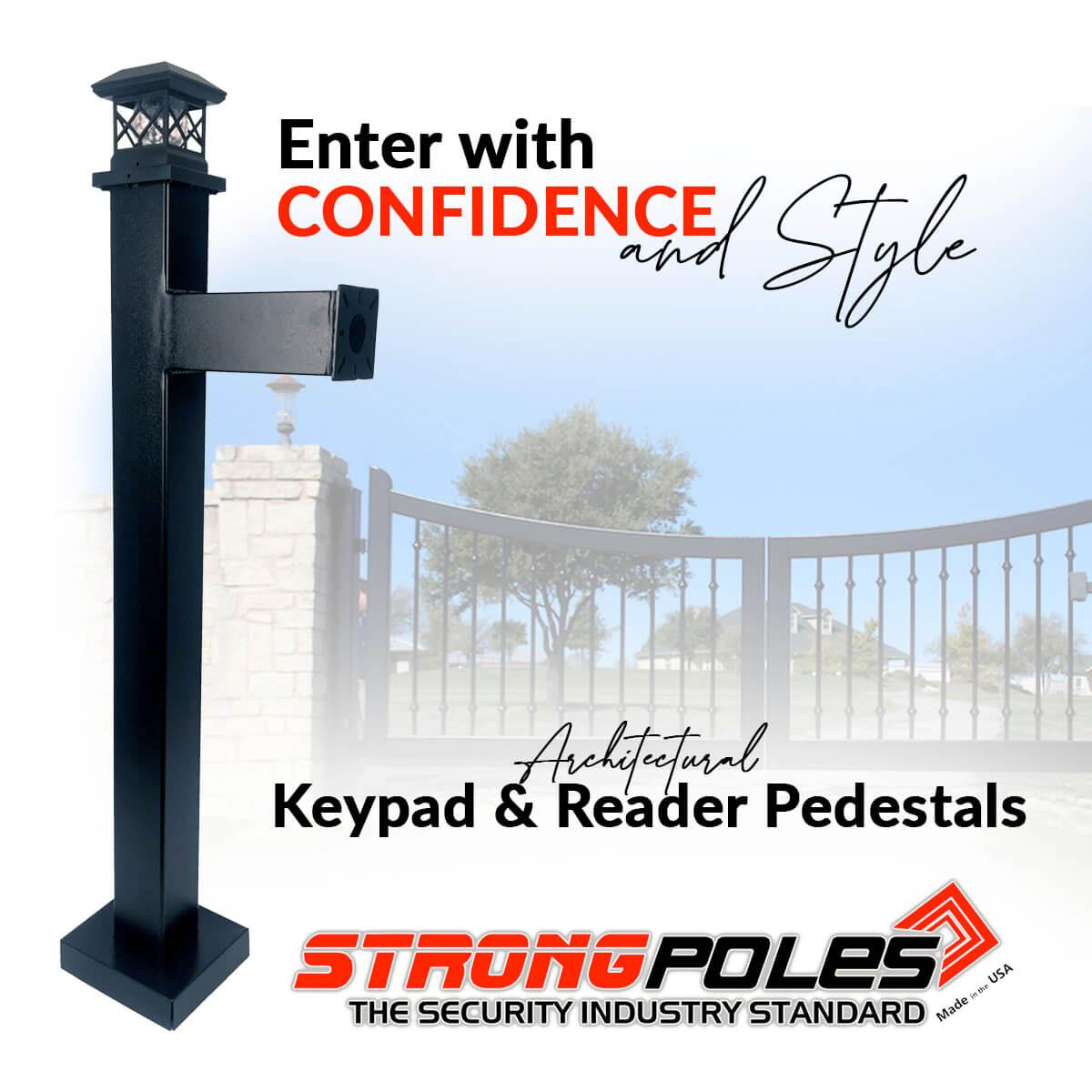 access control keypad and reader pedestal