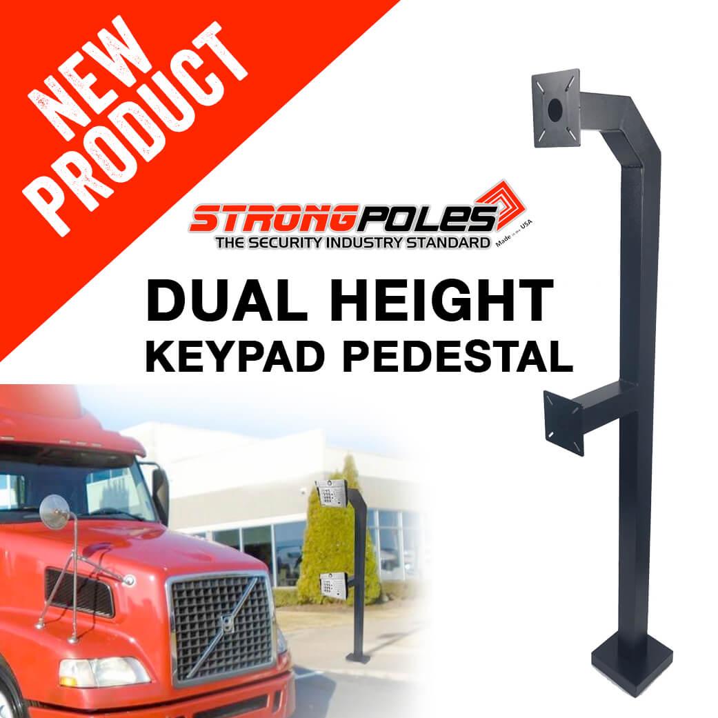 dual height keypad pedestal