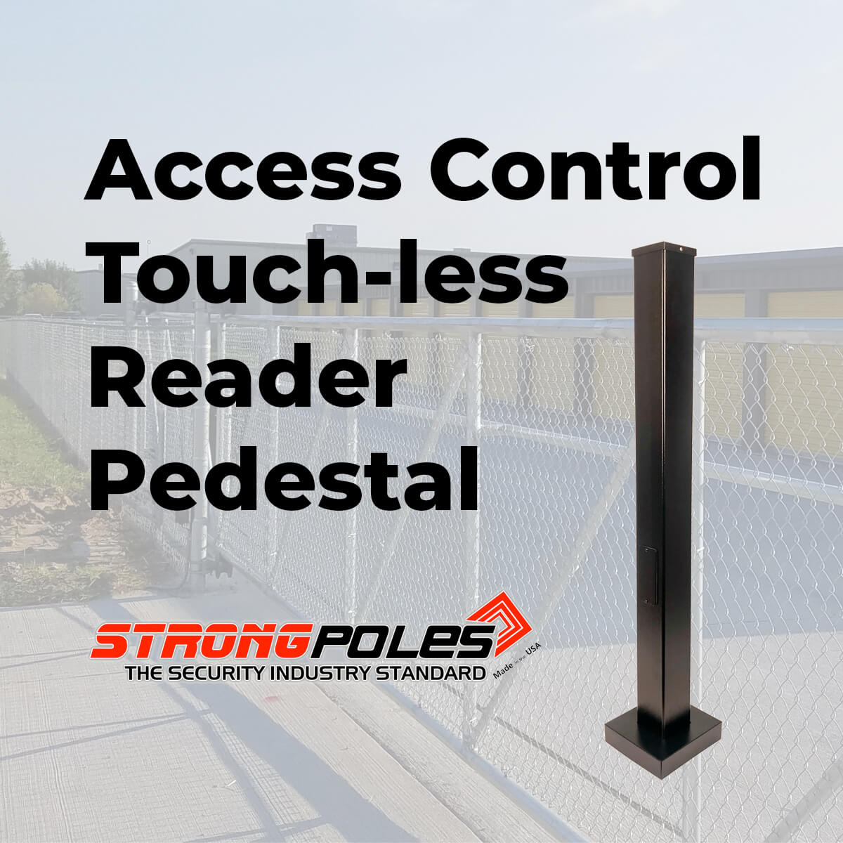 Access Control Touch-less Reader Pedestal